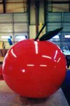 apple shape helium balloon for trade shows