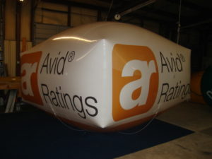 rectangle custom helium balloon for trade shows