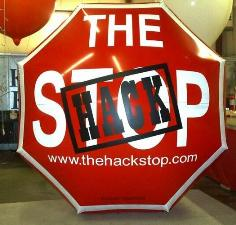 custom stop sign shape helium balloon