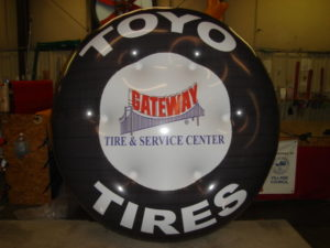 custom tire shape helium trade show balloons-trade show balloons Pasco