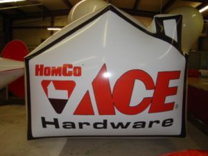 Ace Hardware helium advertising balloons